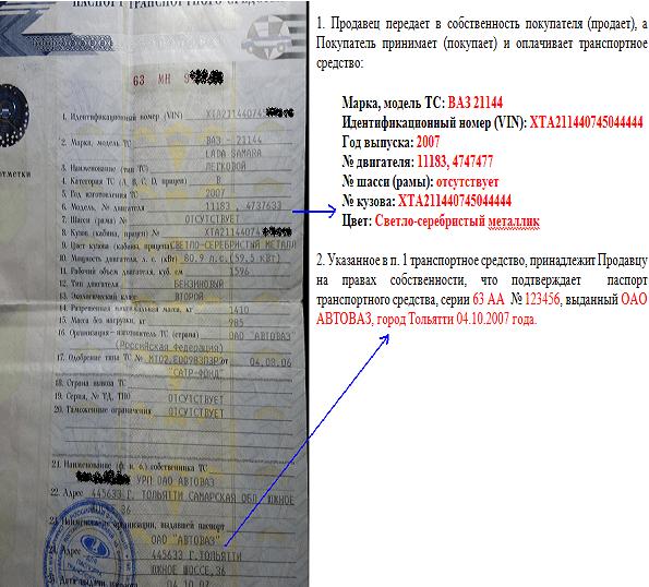Договор Купли-продажи Автомобиля бланк 2015 по Доверенности
