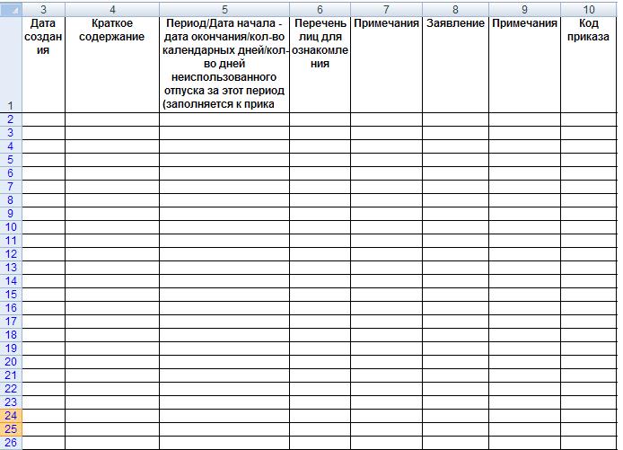 Журнал регистрации приказов по личному составу образец скачать бесплатно